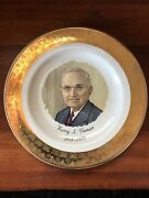 Collectorand039s Plate Harry S. Truman 1884-1972 Gold Vintage
