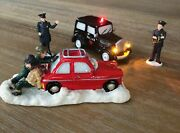 Vintage Lemax Christmas Figurines Police At The Scene
