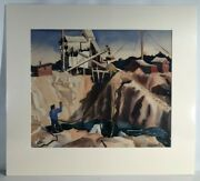 Carson Sutherlin Davenport 1908-1972 Watercolor Titled Rock Quarry Signed