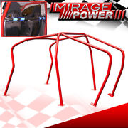 6 Point Racing Safety Anti Roll Cage Red For Mkiv Vag Golf Gti 1999-2005
