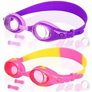 Cooloo Kids Swim Goggles, Pack Of 2, Swimming Glasses For Children Youth And 3