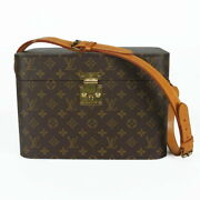 Louis Vuitton Lv M23570 Monogram Train Vanity Cosmetic Box Case Shoulder Bag Ex+