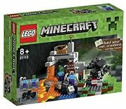 Lego Minecraft The Cave Steve Zombie Spider 249 Pieces New Set 21113