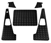 Defender 90 Set With Aerial Hole 2mm Chequer Plate - Black - 2007 Onwards