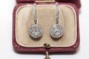 Perfect 18k Gold Natural Diamond Decorated Pretty Earring