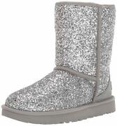 Ugg W Classic Short Cosmos Boots Silver New