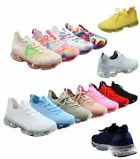 Womenand039s Fashion Lace Up Bubble Sole Stretch Elastic Mesh Sneaker Shoes