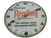 Vintage Reading Beer The Friendly Beer For Modern People Pam Light Up Clock