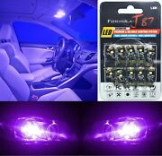 Canbus Error Led Light 194 Purple 12000k Ten Bulbs Interior Dome Replacement Oe