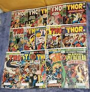 The Mighty Thor Comic Book Lot 15 Issues Late Silver And Early Bronze Age Comics