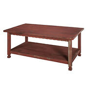 Bolton Furniture Country Cottage 42l Coffee Table, Red Antique Finish