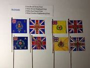 8x 25/28mm British Napoleonic Flags Waterloo 9th Brigade 1st 42nd 44th 92nd