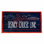 Disney Cruise Line Steamboat Willie Mickey Mouse Beach Towel