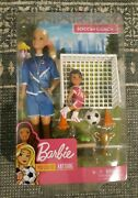 Barbie Soccer Coach Doll And Playset