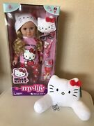 """New My Life As Hello Kitty 18"""" Doll + Chair Pajamas Accessories"""