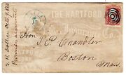 65 On 1863 Alton Il - Hartford Fire Insurance All-over Advertising