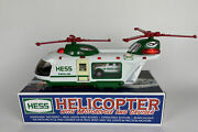 2001 Hess Toy Truck Helicopter With Motorcycle And Cruiser Nos