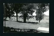 Clear Lake Iowa Ia 1954 Rppc, View To Town From Fish Hatchery Shores, Boat Docks
