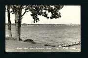 Clear Lake Iowa Ia 1952 Rppc, View Towards Town, Water Tower, From Reeleys Point