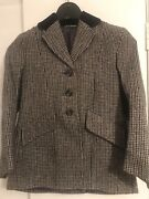 Hunt/event/comp Quality Tweed Jacket Black/grey/brown Child 24and039and039 Exc Condition