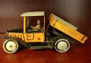 Antique Gandk Greppert Kelch Drpa Germany Tin Litho Wind-up Truck W Driver And Key