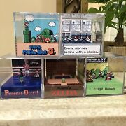 Lot Of 5 3d Cube Handmade Paper Craft Diorama Inspired By Nintendo Games Pokemon