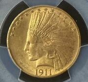 1911 10 Indian Pcgs Ms63