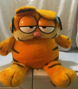 Vintage Super Large Garfield Plush Stuffed Animal...approximately 3 Ft Tall