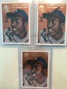Lot Of 3 Hank Aaron 1994 Topps Archives The Ultimate 1954 Set Gold 128 Autos Ex