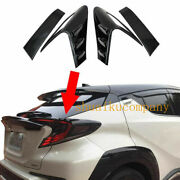 Carbon Fiber Color Rear Tail Light Lamp Eyebrow Cover Trim For Toyota C-hr 16-18