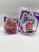 2013 Furby Boom Mcdonald's Toys Figures White Pink New Sealed Set Of 2