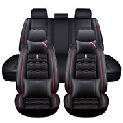 3d Luxury Leather Car Seat Cover Front Back Full Set Cushion Protector Universal