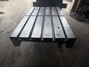 33.25 X 21.5 X 2 Steel Welding T-slotted Table Cast Iron Layout Plate 5 Slot