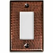 Monarch Pure Copper Hammered Single Rocker Wall Plate / Switch -