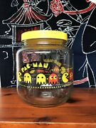 Pac-man Glass Cookie Jar Bally Midway Vintage 1982 Extremely Htf