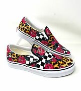 Classic Slip-on Canvas Rose Pink Womenandrsquos Size Black Sneakers Vn0a5ao82fa