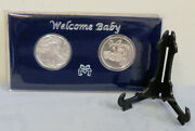2021 1oz. Silver Eagle And 1oz Welcome Baby .999 Silver Rd. Gift Packaged W/stand