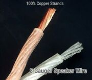 200ft 8 Full Gauge Awg Parallel Speaker Wire Ofc Oxygen Free Copper New Item