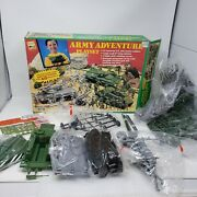 Rare Vintage 1992 Toy Street Army Adventure Playset Soldiers Tanks Opened Box