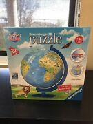 New Childrens Globe Ravensburger 3d Jigsaw Puzzle Rotation Stand Earth Kids Toys