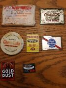 Vintage Lot Of 7 Miniature Advertising Mirrors Coca Cola Pabst Blue Ribbon And Mor