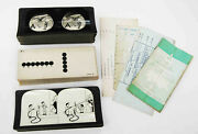 Stereoview Collection - 3 Diff Obscure Eye Test Opthamology Tools Incl Keystone