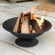 Harrier Steel Outdoor Fire Pit   Large Fire Pit Bowl – Portable / Wood Burning
