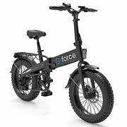 G-force Electric Bike T42,foldable Ebike 20and039and039 4.0 Fat Tire 48v 10.4a Battery