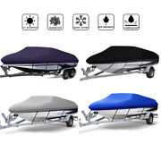 Waterproof Trailerable Runabout Boat Cover Fit V-hull Tri-hull Fishing Bass Boat