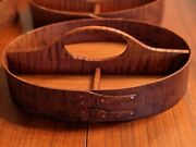 6 Tiger Maple Shaker Oval Divided Carrier