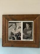 """Gordie Howe Autograph Detroit Red Wings Vintage Framed 14""""x12"""" Sport Collectible"""
