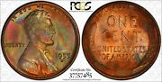 1955 D Lincoln Wheat Cent Penny 1c Pcgs Certified Ms 65 Rb Amazing Color 485