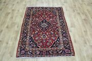 Old Handmade Persian Rug, Floral Design 147 X 105 Cm Hand Knotted Wool Rug