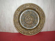 Medieval Renaissance Brass Plate With Religious Ornaments From 18th Century